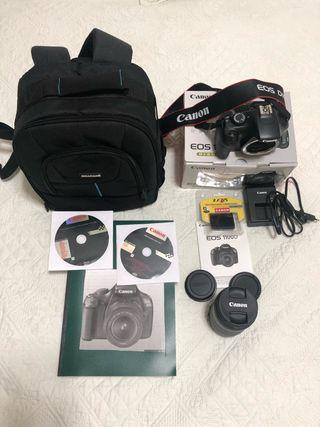 Cámara Reflex Canon 1100D objetivo 18-135 Mochila