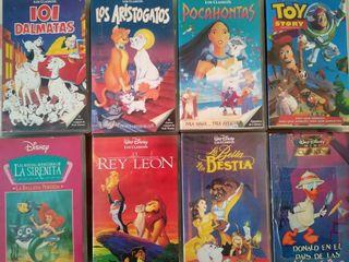 Lote de 16 películas infantiles en VHS