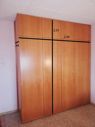 armario, sinfoniers y mesita habitacion