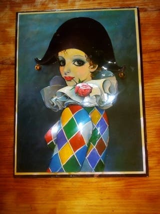 cuadro de un arlequín mujer.