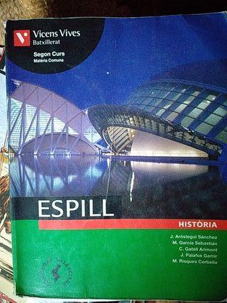 Libro de historia en valenciano de 2°de bachiller