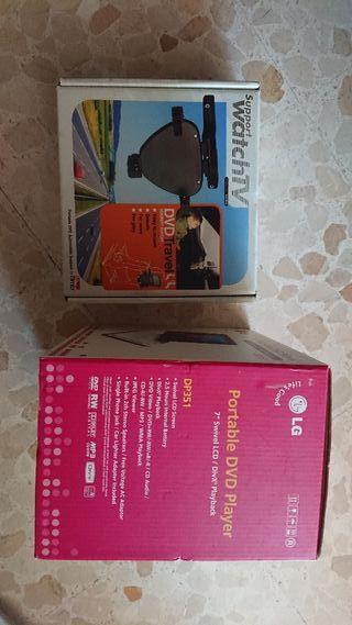 Vendo DVD y soporte para coche