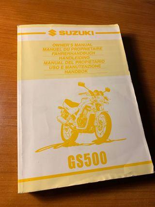 Manual de instrucciones Suzuki GS500