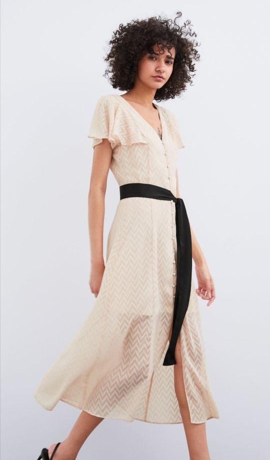 colección completa replicas venta online Vestido plumeti Zara de segunda mano por 20 € en Santa Cruz ...