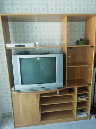 Mueble libreria y TV