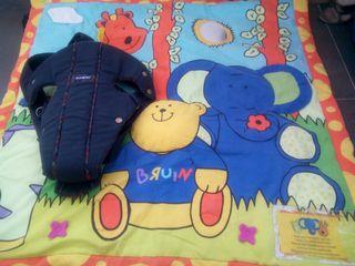 Mochila portabebé Babybjörn + manta actividades