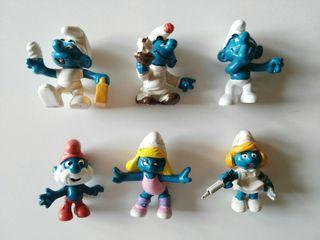 9 Figuras Serie Los Pitufos Años 80