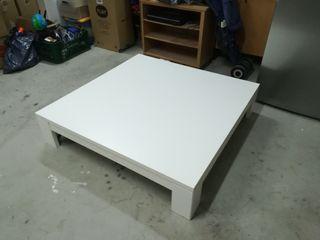 Mesa baja salón, buena calidad 120x120x27 cm