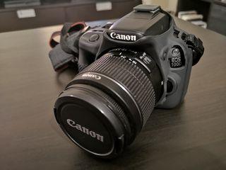 Canon eos 100d + efs 18-55 + baterias