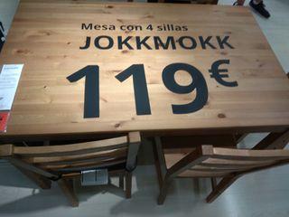 Mesa Comedor Ikea + 4 sillas