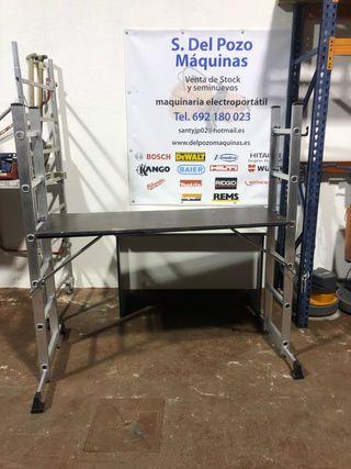 Andamio escalera compacto aluminio