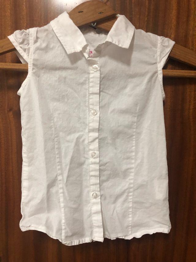 Camisa blanca niña T107-113 cms.