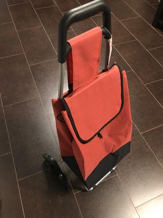 Carro de compra de 6 ruedas KfK - GO rojo