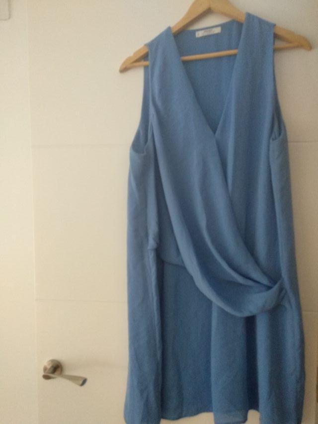 Vestido Azul Celeste Mango De Segunda Mano Por 16 En
