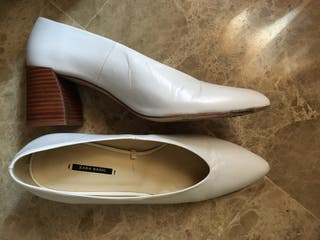 Zapato tacón madera