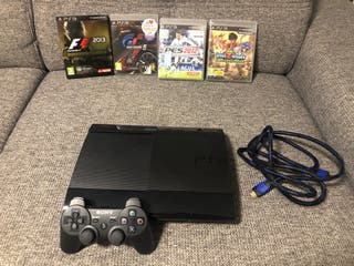 Ps3 Super Slim 12 Gb y 4 juegos