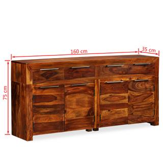 vidaXL Aparador de madera maciza 243943