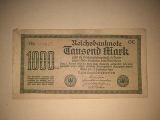 Billete Alemán 1000 Marcos 1922