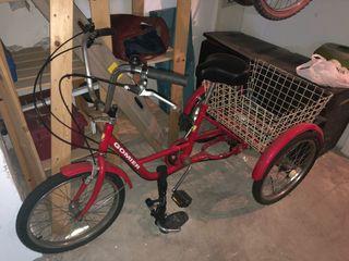 Bicicleta triciclo para adultos
