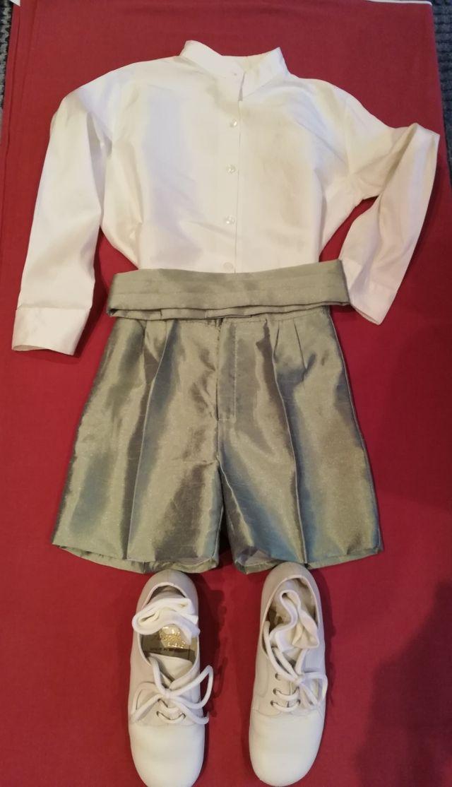 Conjunto completo de ceremonia niño. (T-6)+zapatos