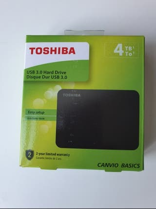 Disco Duro Toshiba 4TB USB 3.0