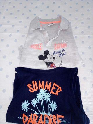 Dos camisetas niño 2-3 años