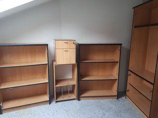Muebles oficina:estanterías, cajonera, escritorio