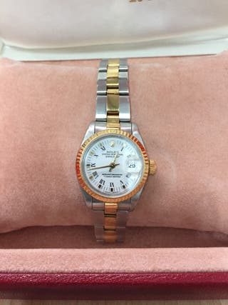 ROLEX OYSTER PERPETUAL DATEJUST MUJER ORO Y ACERO