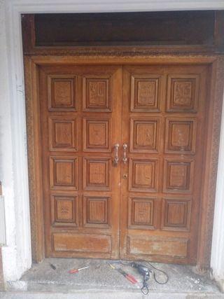 Puerta de madera machiza