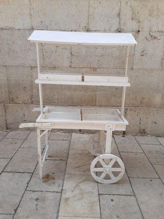 carrito madera candy bar