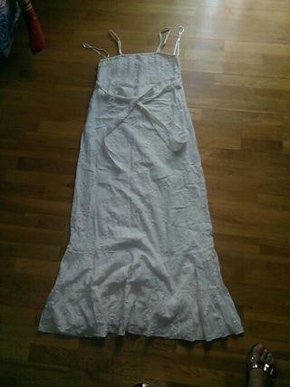 Vestido Cortefiel XL largo Crudo