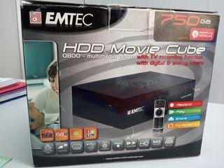Disco duro multimedia. EMTEC MOVIE CUBE 750 GB.