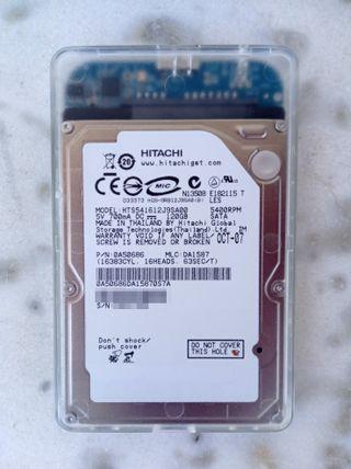 "Disco duro Hitachi 2.5"" 120GB SATA USB3.0 HDD"