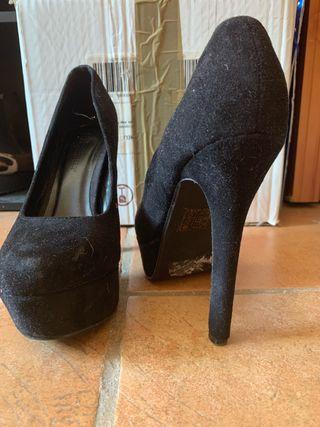 zapatos tacón plataforma niña mujer