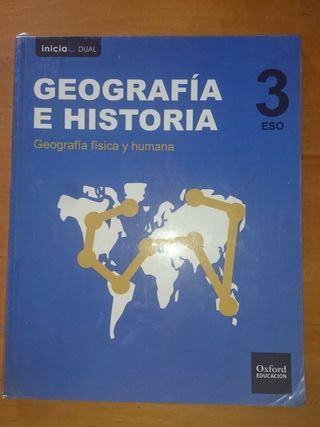 Pack de libros de Geografía e historia, 3ESO.