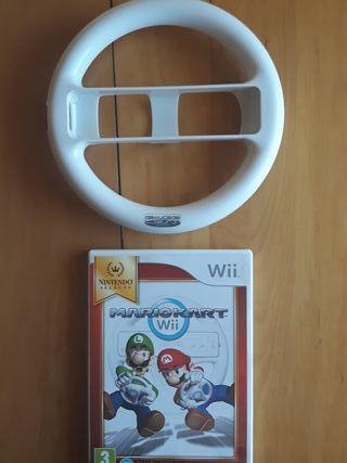 Juegos Wii (Mario Kart+Volante)