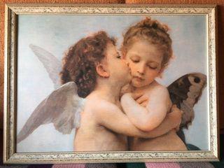 """Cuadro """"El primer beso"""" de Bouguereau"""
