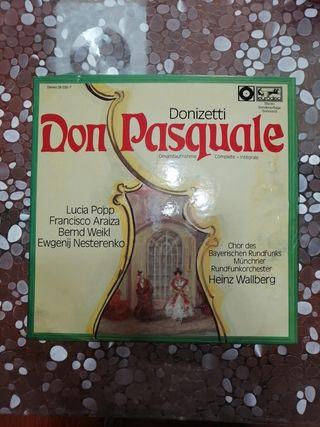 2 vinilos Donizetti Don Pasquale