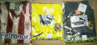 camisetas Villareal y Athletic