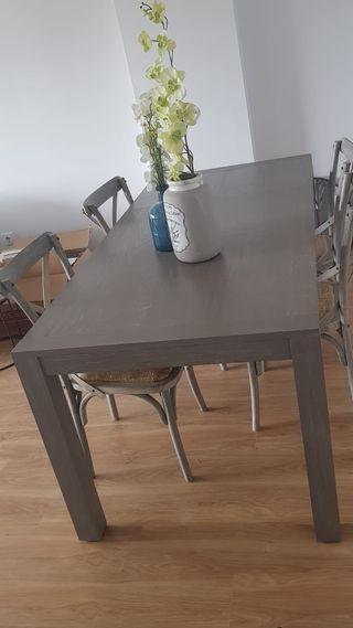 Mesa comedor extensible + sillas