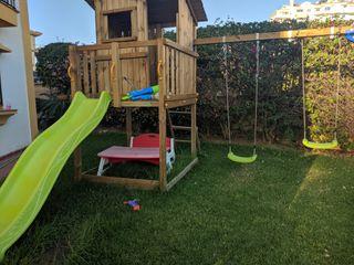 Parque infantil jardín