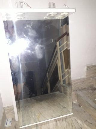 espejo de baño con luz para la pared