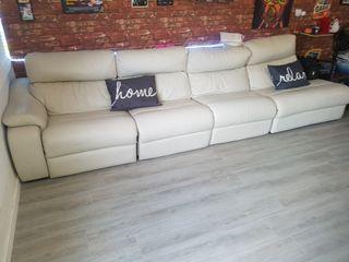 Sofa XXL Piel Electrico Reclinable