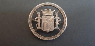 BROCHE DE PLATA 925. SÍMBOLO DE ESPAÑA