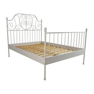 Estructura de cama, ikea. LEIRVIK + colchón.