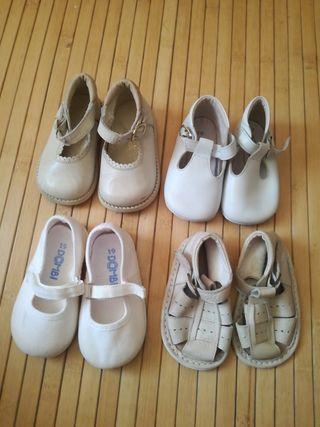 lote zapatos niña ,