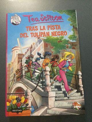 """Libro """"Tras la pista del tulipán negro""""."""