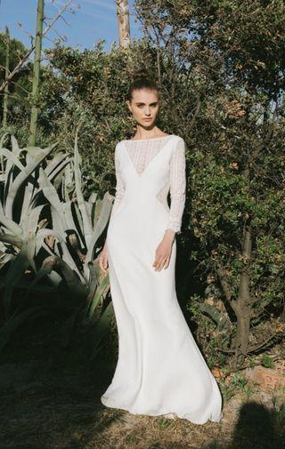 vestido de novia seda natural