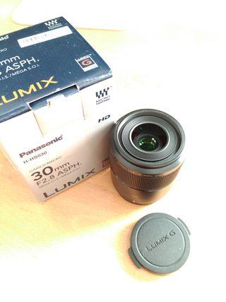 PANASONIC LUMIX 30mm 2.8 macro micro 43 objetivo