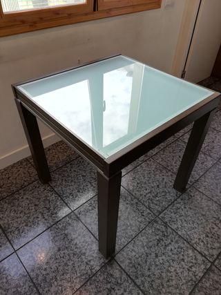 Mesa comedor extensible 80x80cm